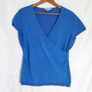 Ann Taylor Loft Womens Blue Top Shirt Size Large